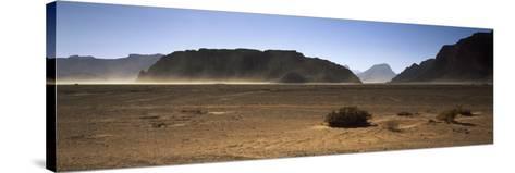 Windswept Desert, Wadi Rum, Jordan--Stretched Canvas Print