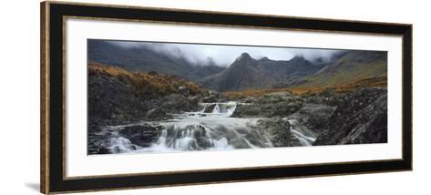 Water Falling from Rocks, Sgurr A' Mhaim, Glen Brittle, Isle of Skye, Scotland--Framed Art Print