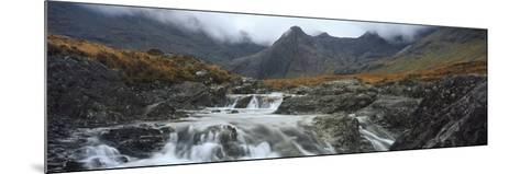 Water Falling from Rocks, Sgurr A' Mhaim, Glen Brittle, Isle of Skye, Scotland--Mounted Photographic Print