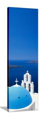 High Angle View of a Church, Firostefani, Santorini, Cyclades Islands, Greece--Stretched Canvas Print