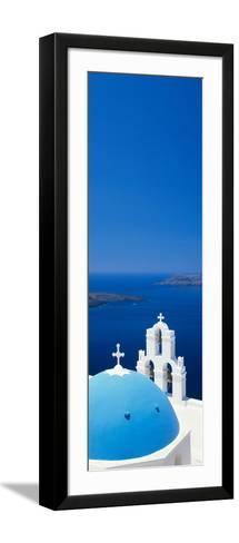 High Angle View of a Church, Firostefani, Santorini, Cyclades Islands, Greece--Framed Art Print