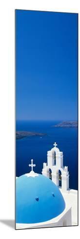 High Angle View of a Church, Firostefani, Santorini, Cyclades Islands, Greece--Mounted Photographic Print