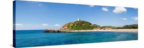 Torre Di Chia with the Saracen Tower at the Costa Del Sud, Sulcis, Sardinia, Italy--Stretched Canvas Print