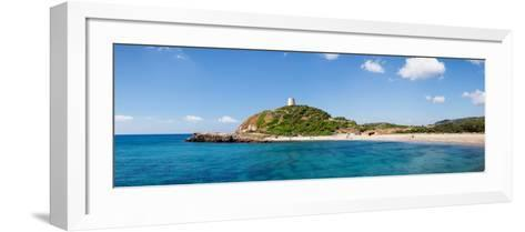 Torre Di Chia with the Saracen Tower at the Costa Del Sud, Sulcis, Sardinia, Italy--Framed Art Print