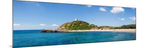 Torre Di Chia with the Saracen Tower at the Costa Del Sud, Sulcis, Sardinia, Italy--Mounted Photographic Print