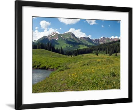 Man Fly-Fishing in Slate River, Crested Butte, Gunnison County, Colorado, USA--Framed Art Print