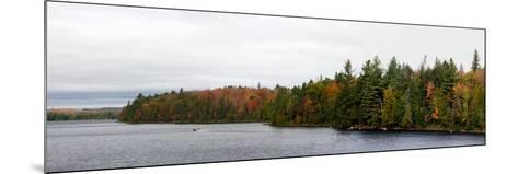 Boat in Canoe Lake, Algonquin Provincial Park, Ontario, Canada--Mounted Photographic Print