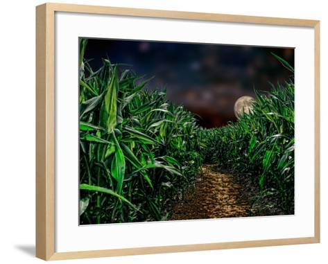 Dark Corn Field--Framed Art Print