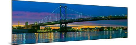 Suspension Bridge across a River, Ben Franklin Bridge, River Delaware, Philadelphia, Pennsylvani...--Mounted Photographic Print