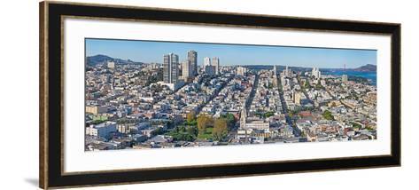 High Angle View of a City, Coit Tower, Telegraph Hill, San Francisco, California, USA--Framed Art Print