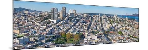 High Angle View of a City, Coit Tower, Telegraph Hill, San Francisco, California, USA--Mounted Photographic Print