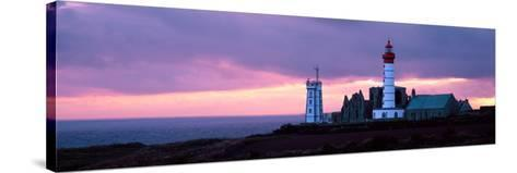 Lighthouse on the Coast, Saint Mathieu Lighthouse, Finistere, Brittany, France--Stretched Canvas Print