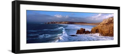 Surf on the Beach, Crozon Peninsula, Finistere, Brittany, France--Framed Art Print