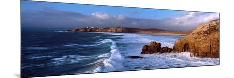 Surf on the Beach, Crozon Peninsula, Finistere, Brittany, France--Mounted Photographic Print