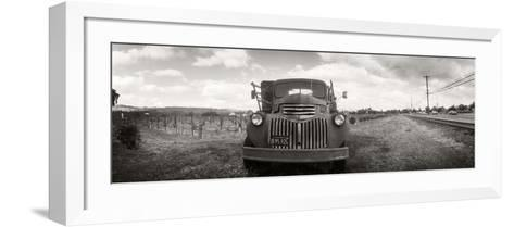 Old Truck in a Field, Napa Valley, California, USA--Framed Art Print