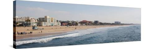 Surf on the Beach, Santa Monica Beach, Santa Monica, Los Angeles County, California, USA--Stretched Canvas Print