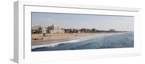 Surf on the Beach, Santa Monica Beach, Santa Monica, Los Angeles County, California, USA--Framed Art Print