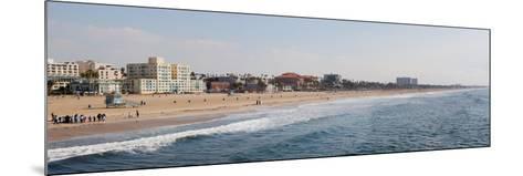Surf on the Beach, Santa Monica Beach, Santa Monica, Los Angeles County, California, USA--Mounted Photographic Print