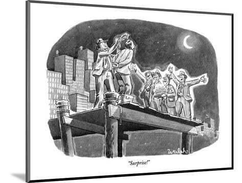 """Surprise!"" - New Yorker Cartoon-Liam Walsh-Mounted Premium Giclee Print"