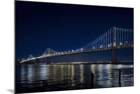 The Bay Lights - San Francisco Bay Bridge, Photograph by James Ewing-Leo Villareal-Mounted Limited Edition