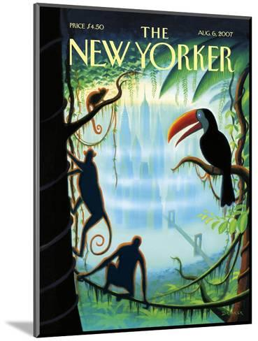 The New Yorker Cover - August 6, 2007-Eric Drooker-Mounted Premium Giclee Print