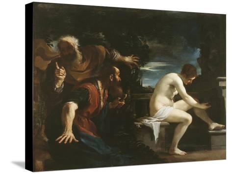 Susanna and the Elders, 1617-Guercino (Giovanni Francesco Barbieri)-Stretched Canvas Print