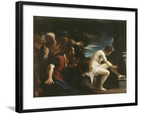 Susanna and the Elders, 1617-Guercino (Giovanni Francesco Barbieri)-Framed Art Print