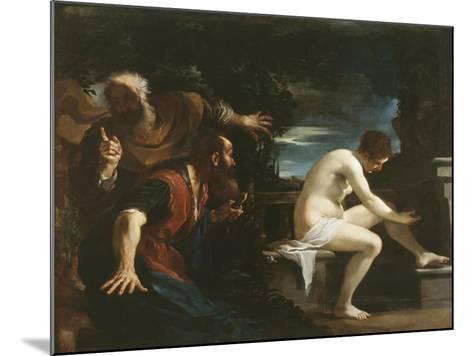 Susanna and the Elders, 1617-Guercino (Giovanni Francesco Barbieri)-Mounted Giclee Print