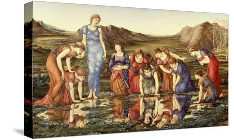 The Mirror of Venus-Edward Burne-Jones-Stretched Canvas Print