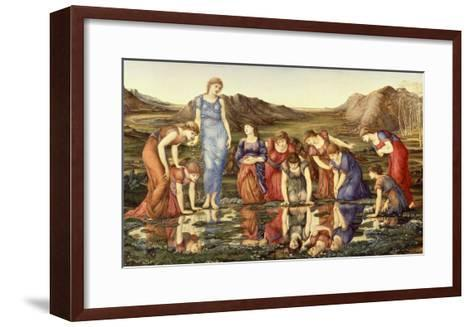 The Mirror of Venus-Edward Burne-Jones-Framed Art Print