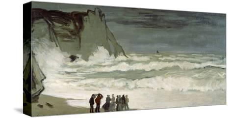 Grosse Mer À Etretat, Heavy Seas at Etretat, France, 1872-Claude Monet-Stretched Canvas Print