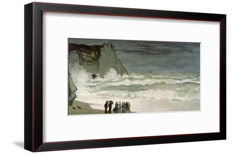 Grosse Mer À Etretat, Heavy Seas at Etretat, France, 1872-Claude Monet-Framed Art Print