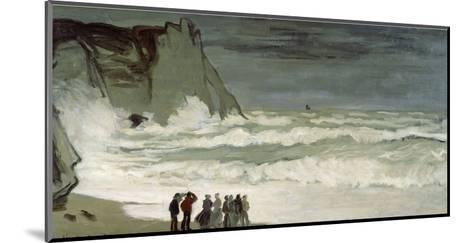 Grosse Mer À Etretat, Heavy Seas at Etretat, France, 1872-Claude Monet-Mounted Giclee Print