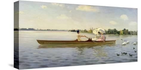 On the Thames, 1878-Giuseppe De Nittis-Stretched Canvas Print