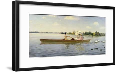 On the Thames, 1878-Giuseppe De Nittis-Framed Art Print