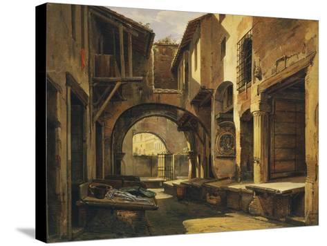 The Ottavia Portico in Rome-Giovanni Faure-Stretched Canvas Print