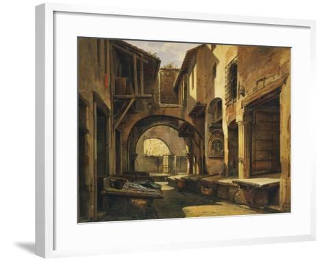 The Ottavia Portico in Rome-Giovanni Faure-Framed Art Print