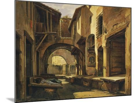 The Ottavia Portico in Rome-Giovanni Faure-Mounted Giclee Print