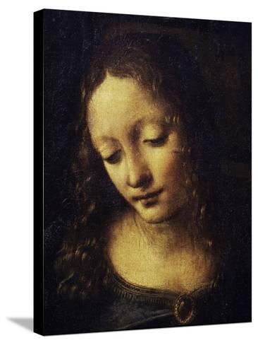 The Virgin of the Rocks Detail of Virgin-Leonardo da Vinci-Stretched Canvas Print