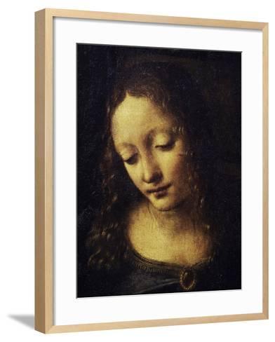 The Virgin of the Rocks Detail of Virgin-Leonardo da Vinci-Framed Art Print