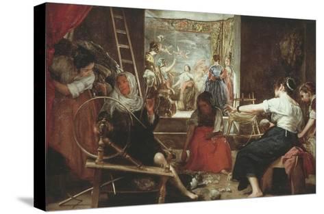 Las Hilanderas (The Spinners) or La Fabula De Aracne (Fable of Arachne), 1657-60, 86X113In-Diego Velazquez-Stretched Canvas Print