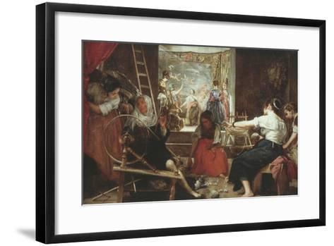 Las Hilanderas (The Spinners) or La Fabula De Aracne (Fable of Arachne), 1657-60, 86X113In-Diego Velazquez-Framed Art Print