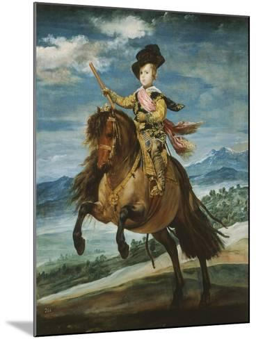 Prince Baltasar Carlos, 1629-1646, Equestrian Portrait Set in the Sierra Madrileña, 1635-6-Diego Velazquez-Mounted Giclee Print