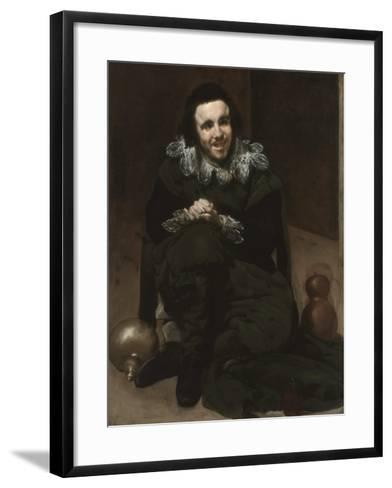 The Court Jester Calabacillas or Bob De Coria, C. 1639-Diego Velazquez-Framed Art Print