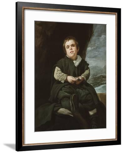 The Child of Vallecas Francisco Lezcano, C. 1637-Diego Velazquez-Framed Art Print