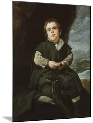 The Child of Vallecas Francisco Lezcano, C. 1637-Diego Velazquez-Mounted Giclee Print