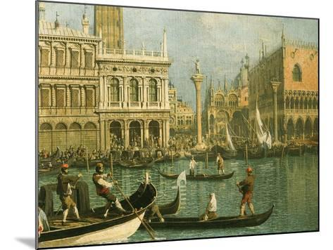 Ducal Palace and St Marks Venice Detail-Canaletto-Mounted Giclee Print