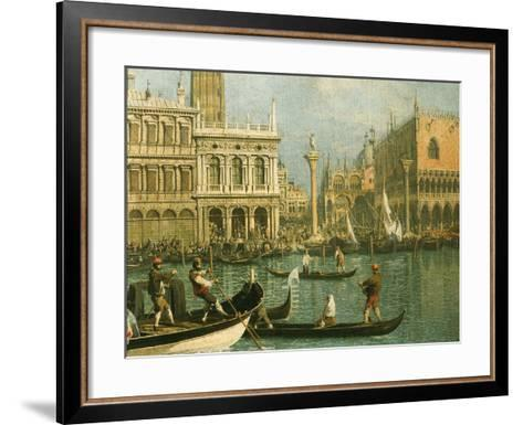 Ducal Palace and St Marks Venice Detail-Canaletto-Framed Art Print