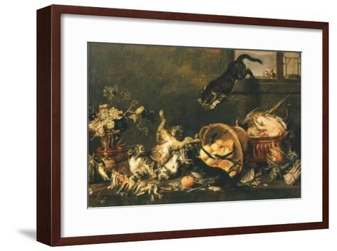 Cats Fighting in Pantry-Paul De Vos-Framed Art Print