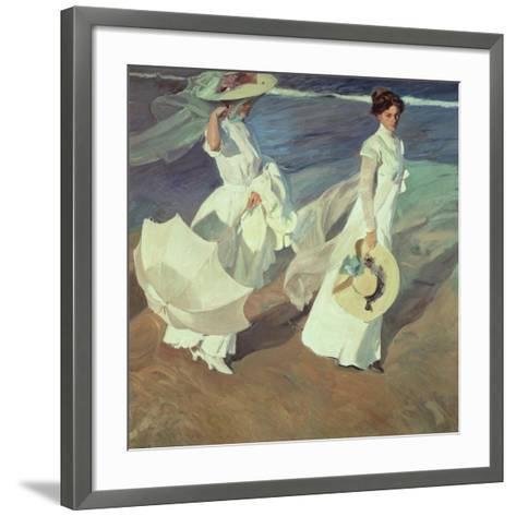 Women Walking on the Beach, 1909-Joaqu?n Sorolla y Bastida-Framed Art Print